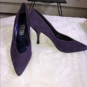 Purple suede heels 8